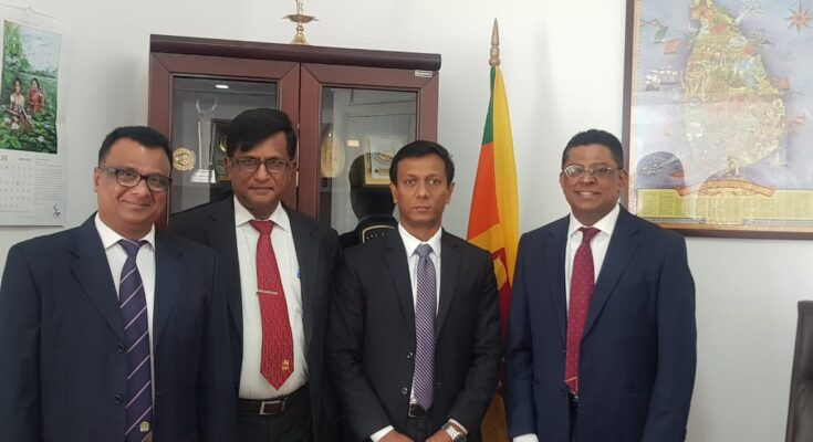 SLPA-UAE courtesy call with new Consul General of Sri Lanka for Dubai and Northern Emirates His Excellency Nalinda Wijerathna
