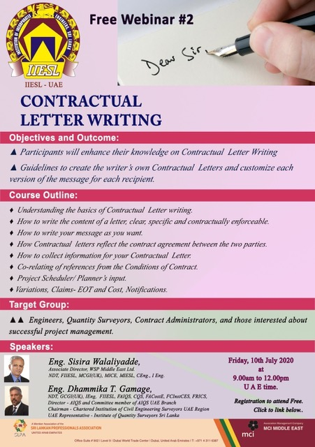 Contractual Letter Writing