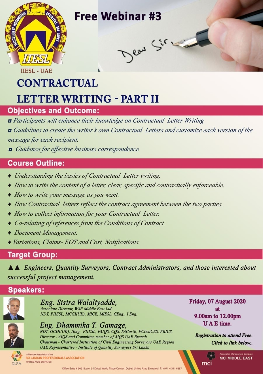 Contractual Letter Writing Part 2