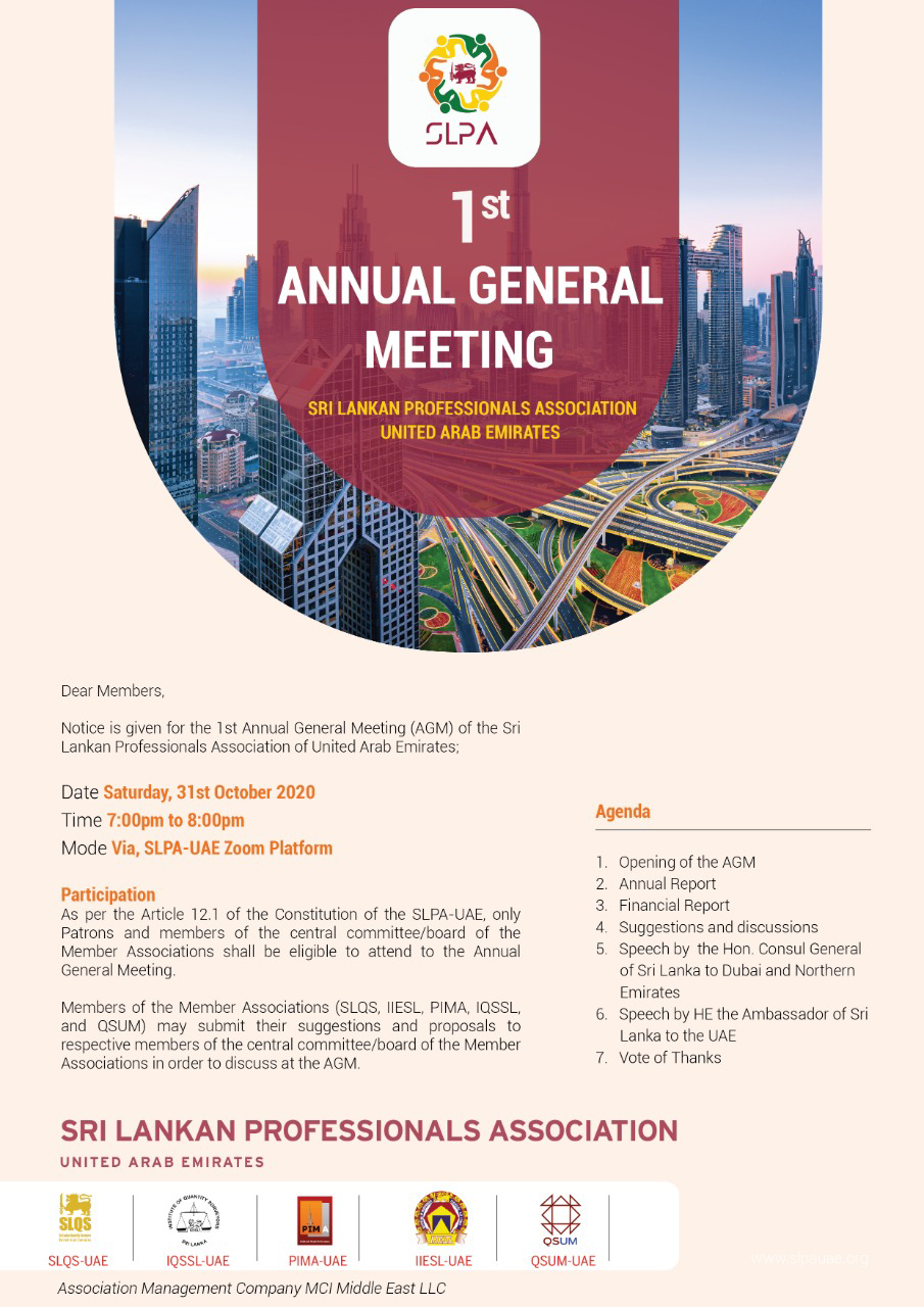 First Annual General Meeting